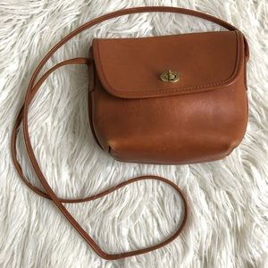 Vintage Coach Leather Small Crossbody Bag